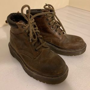 Dr. Martens brown leather boots